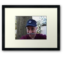 water color, the mustach man Framed Print