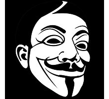 Guy Fawke / Vendetta / Anonymous Photographic Print