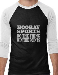 Hooray sports win points geek funny nerd Men's Baseball ¾ T-Shirt