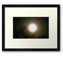 water color, full moon, not ready yet. Framed Print