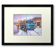 Volvo tipper Framed Print