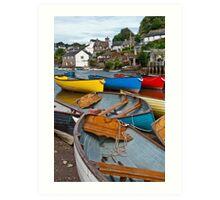 More Boats at Noss Mayo Art Print