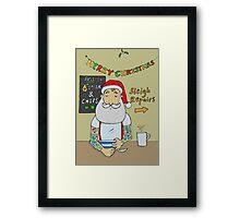 Hipster Santa Christmas Morning  Framed Print