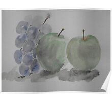 Still life ~ apples 'n' grapes Poster