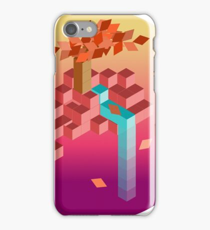 An isometric sunset iPhone Case/Skin