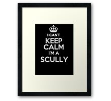 Surname or last name Scully? I can't keep calm, I'm a Scully! Framed Print