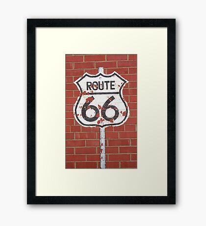 Route 66 Shield Framed Print