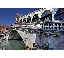 Rialto Bridge - Venice Photographic Print