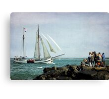 Watching&Sailing Canvas Print