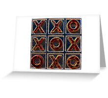 Noughts & Crosses 2 Greeting Card