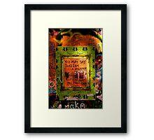 Tribute to John Lennon Framed Print