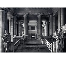 Straight Justice in Brussels Photographic Print
