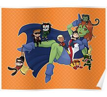 Young Justice Chibi Attack Poster