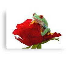 Valentine Frog Canvas Print