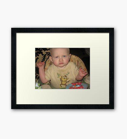 my unhappy face Framed Print