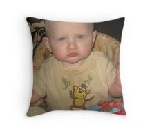 my unhappy face Throw Pillow