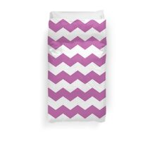 Pinky Purple and White Chevron Print Duvet Cover