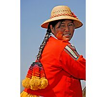 Uros woman Photographic Print