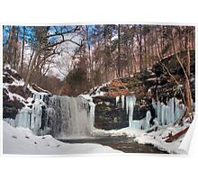 Cold Spray of Harrison Wright Falls Poster