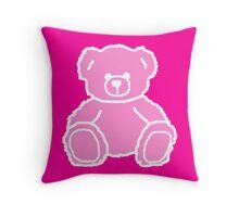 Shocking Pink Teddy Bear Throw Pillow