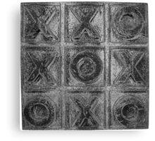 Noughts & Crosses 3 Canvas Print