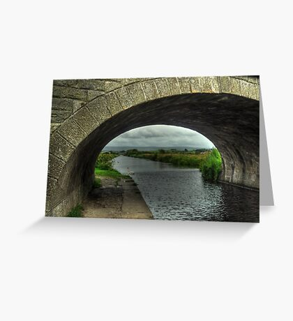 Bridge over The Lancaster Canal At Glasson Greeting Card