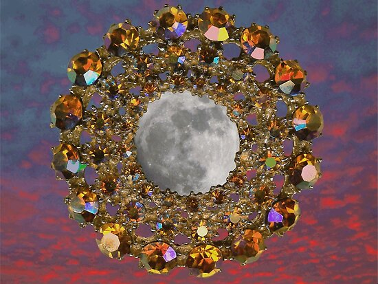 The Moon is encrusted with Jewels. by albutross