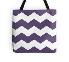 Modern Purple and White Chevron Print Tote Bag