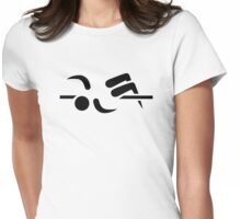 High jump Womens Fitted T-Shirt