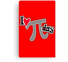 I heart pi day geek funny nerd Canvas Print