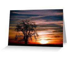 Pawnee Butte, Sunrise Greeting Card