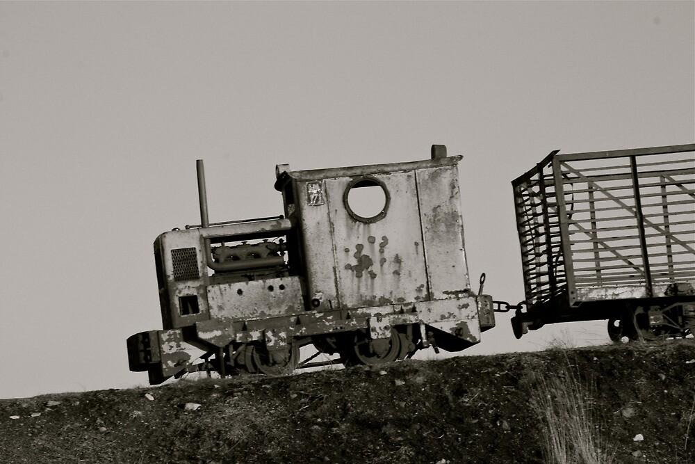 old rusty train by heatherbyrne