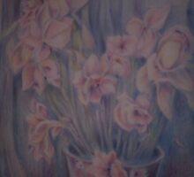 vase of Iris by Ellen Keagy
