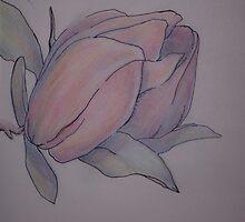 Magnolia blossom opening by Ellen Keagy