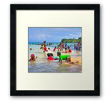 Jamaican Christmas Morning Framed Print