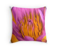 Sri Lankan Lotus Flower Throw Pillow