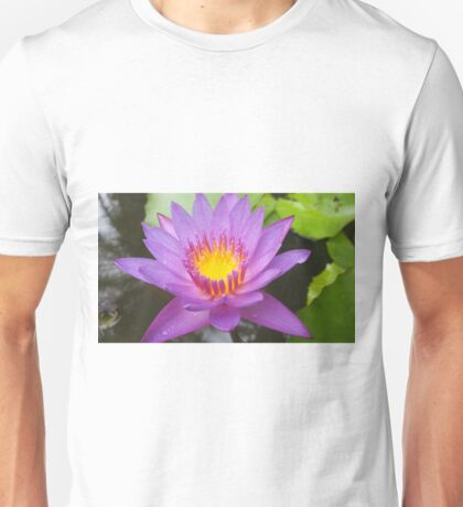 Purple Lotus Flower Unisex T-Shirt