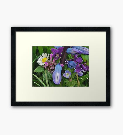 Textured Spring. Framed Print