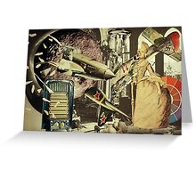 It Came From Four Floors Below. Greeting Card
