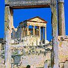 Roman Temple Dougga by Nigel Fletcher-Jones