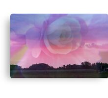Flower Rays and Clouds Canvas Print