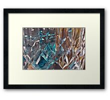 Abstract of cut crystal Framed Print