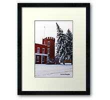 The Leaning Tree of the Hi-Line Framed Print