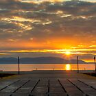 Portencross Jetty Sunset by Paul Messenger