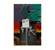 Signs Of Suburbia Art Print