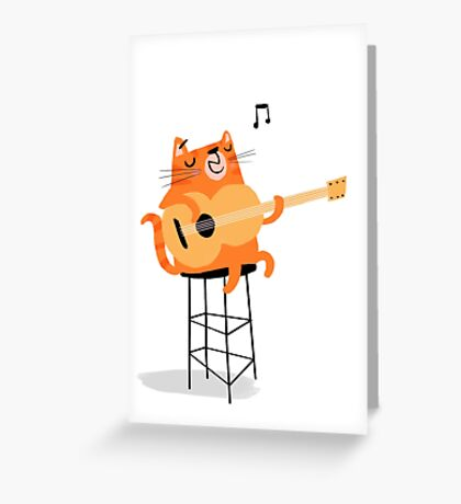 Feline Groovy Greeting Card