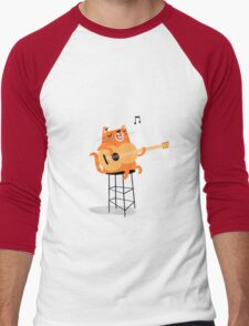 Feline Groovy Men's Baseball ¾ T-Shirt