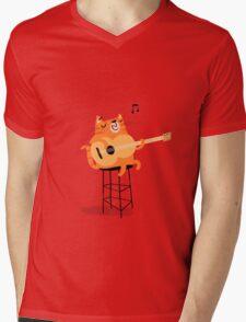 Feline Groovy Mens V-Neck T-Shirt