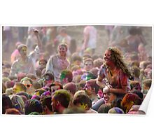 The colors of Holi Poster