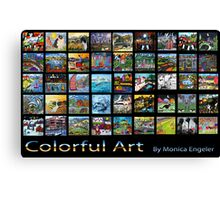 Colorful Art Canvas Print